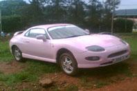 pink sports car