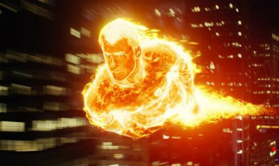 Like the Human Torch. Only a chick